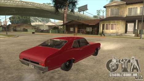 Chevrolet Nova SS para GTA San Andreas vista direita