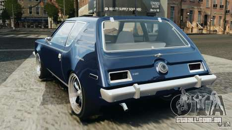 AMC Gremlin 1973 para GTA 4 traseira esquerda vista