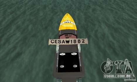 Cesa Offshore para GTA San Andreas vista traseira