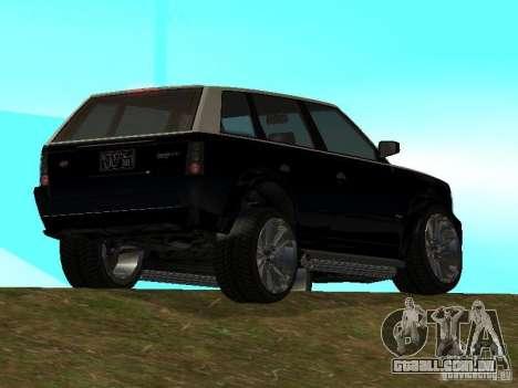 Huntley no GTA IV para GTA San Andreas esquerda vista