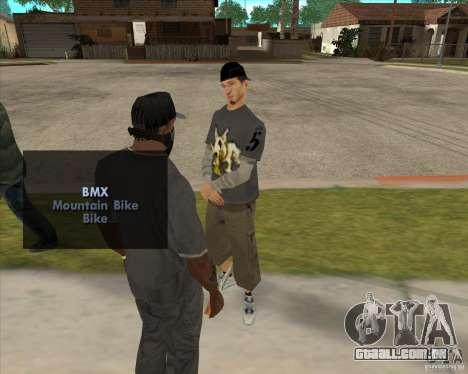 Compra uma garrafa do Grove para GTA San Andreas segunda tela