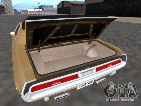 Dodge Challenger 440 Six Pack 1970 para GTA San Andreas vista interior