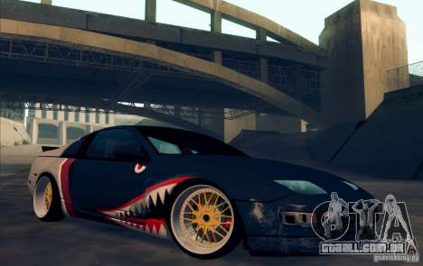 Nissan 300ZX Bad Shark para GTA San Andreas vista interior