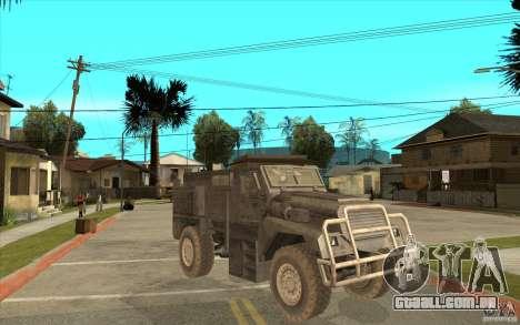 Military Truck para GTA San Andreas vista interior