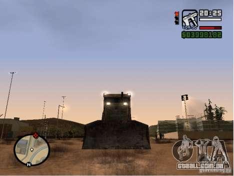 Bulldozer T 130 para GTA San Andreas vista traseira
