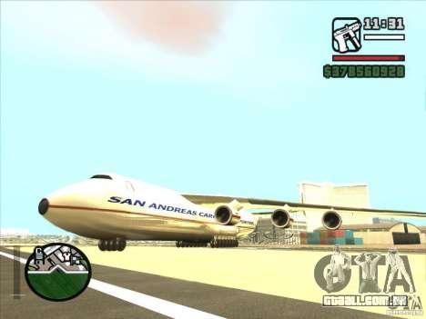 Antonov an-225 para GTA San Andreas esquerda vista
