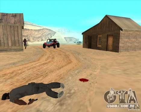 Cowboy duelo v 2.0 para GTA San Andreas por diante tela