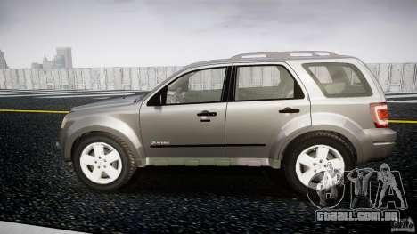 Ford Escape 2011 Hybrid Civilian Version v1.0 para GTA 4 esquerda vista