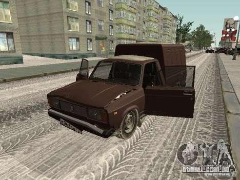 IZH 27175 edição de inverno para GTA San Andreas vista traseira