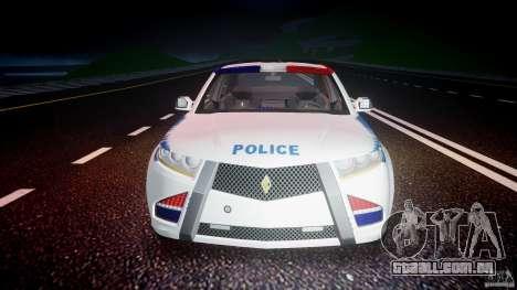 Carbon Motors E7 Concept Interceptor NYPD [ELS] para GTA 4 interior