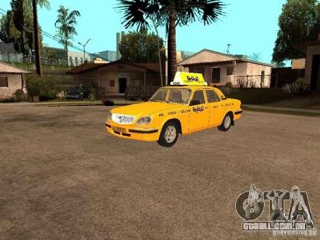 Volga GAZ-31105 táxi para GTA San Andreas vista traseira