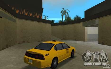 Chevrolet Impala Taxi para GTA Vice City vista direita