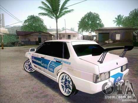 VAZ 21099 Drift Style para GTA San Andreas traseira esquerda vista