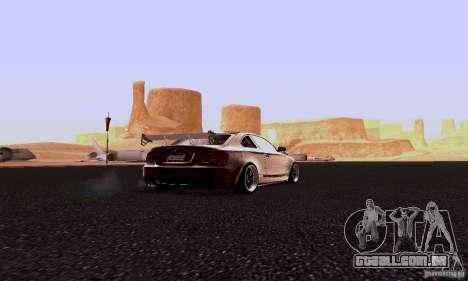 BMW 135i para GTA San Andreas traseira esquerda vista