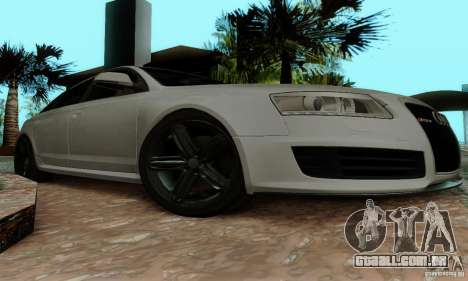 Audi RS6 2009 para GTA San Andreas vista interior