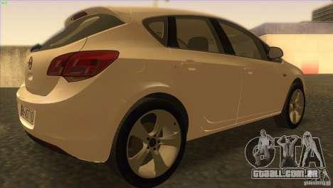 Opel Astra 2010 para GTA San Andreas vista direita