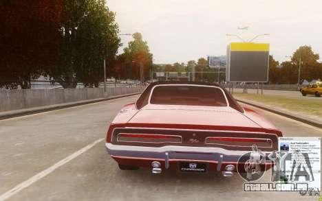 Dodge Charger 440 1969 para GTA 4 traseira esquerda vista
