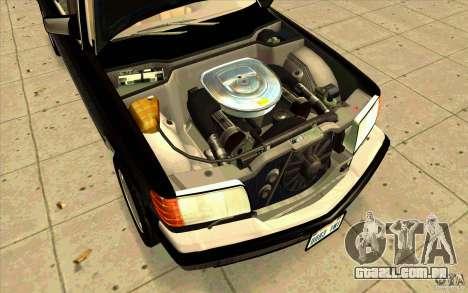 Mercedes Benz 560SEL w126 1990 v1.0 para GTA San Andreas vista direita