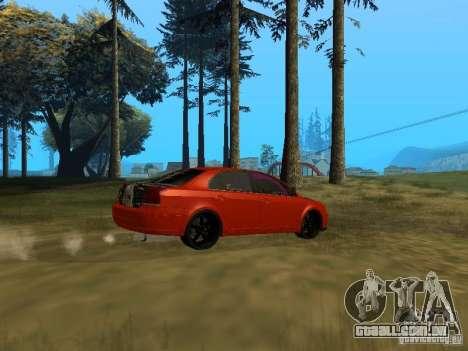 Toyota Avensis TRD Tuning para GTA San Andreas traseira esquerda vista