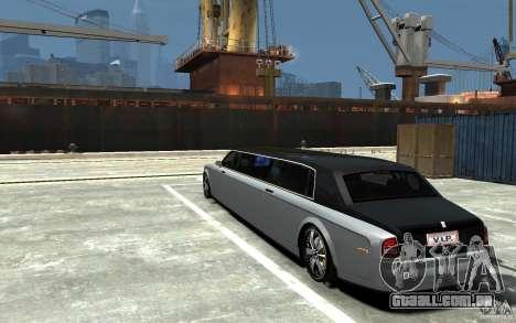 Rolls-Royce Phantom Sapphire Limousine v.1.2 para GTA 4 traseira esquerda vista
