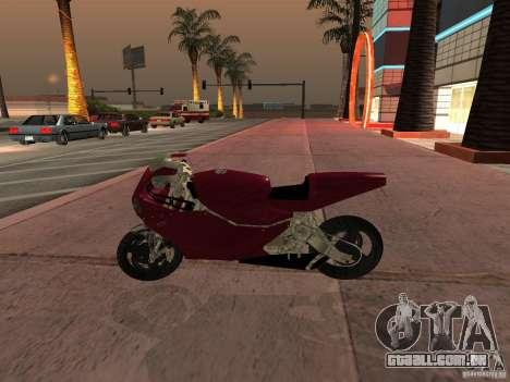 Turbine Superbike para GTA San Andreas traseira esquerda vista