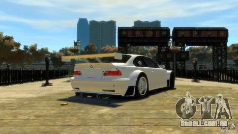 BMW E46 M3 GTR Sport para GTA 4 traseira esquerda vista