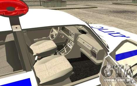 Carro de polícia Vaz 2107 DPS para GTA San Andreas traseira esquerda vista