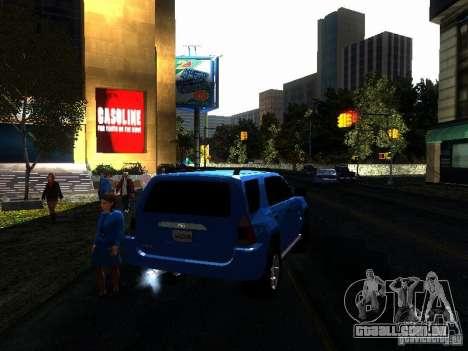 Toyota 4Runner 4X4 para GTA San Andreas vista traseira
