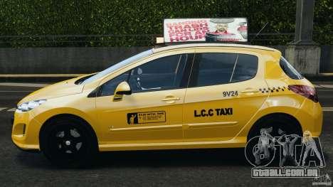 Peugeot 308 GTi 2011 Taxi v1.1 para GTA 4 esquerda vista