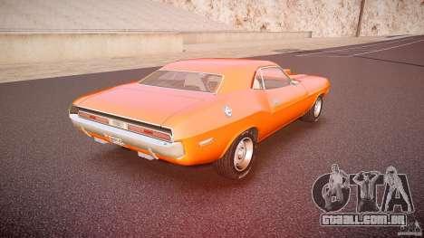 Dodge Challenger v1.0 1970 para GTA 4 vista superior