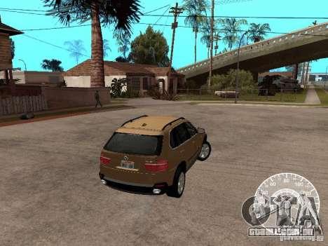 BMW X5 E70 para GTA San Andreas esquerda vista