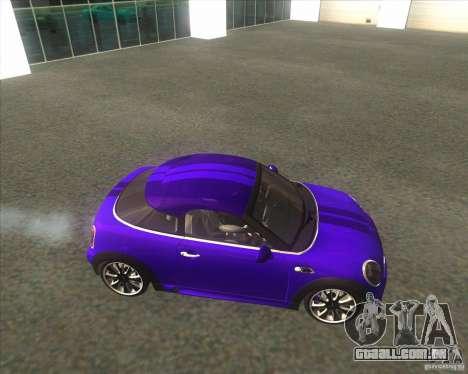 Mini Coupe 2011 Concept para GTA San Andreas esquerda vista