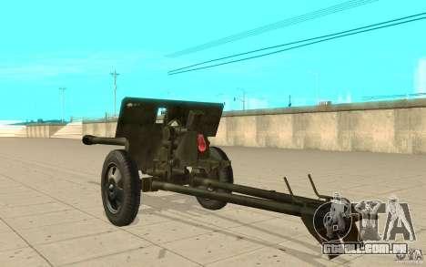 A arma do ZiS-3 para GTA San Andreas traseira esquerda vista