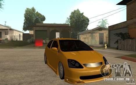 Honda Civic Type-R EP3 para GTA San Andreas vista traseira