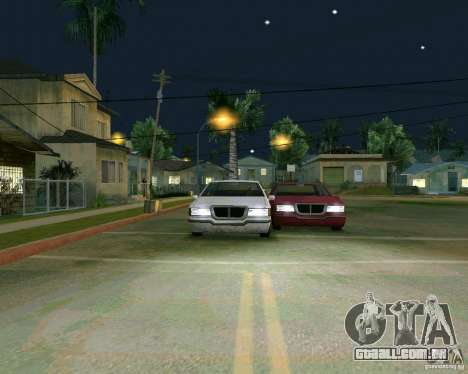 Elegant Limo para GTA San Andreas vista interior
