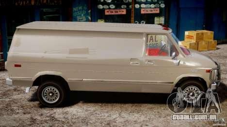Chevrolet G20 Vans V1.1 para GTA 4 vista de volta