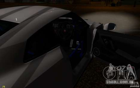 Nissan GTR R35 Spec-V 2010 para GTA San Andreas vista superior
