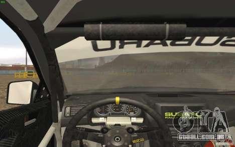 Subaru Impreza WRX Gymkhana2 Beta para GTA San Andreas vista traseira