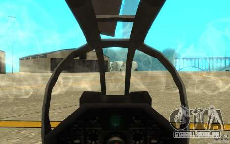 Cobra para GTA San Andreas vista interior