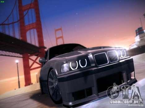BMW M3 E36 320i Tunable para GTA San Andreas esquerda vista