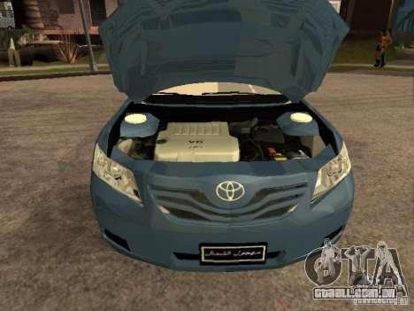 Toyota Camry 2009 para GTA San Andreas vista direita