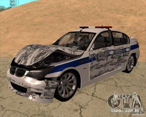 BMW M5 E60 DPS para vista lateral GTA San Andreas