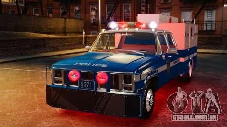 GMC C3500 NYPD ESU para GTA 4 vista de volta