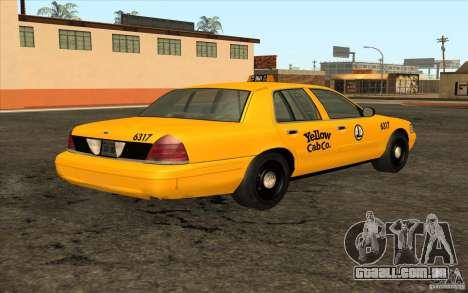 Ford Crown Victoria Taxi 2003 para GTA San Andreas vista direita