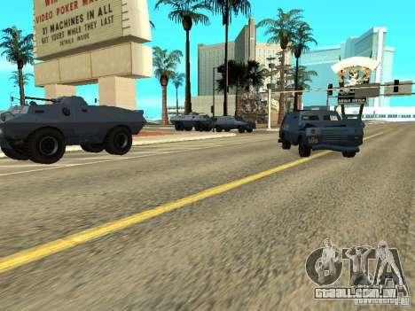 SWAT e FBI caminhão andam pelas ruas de para GTA San Andreas terceira tela