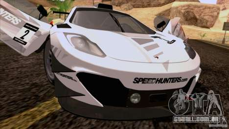 McLaren MP4-12C Speedhunters Edition para GTA San Andreas