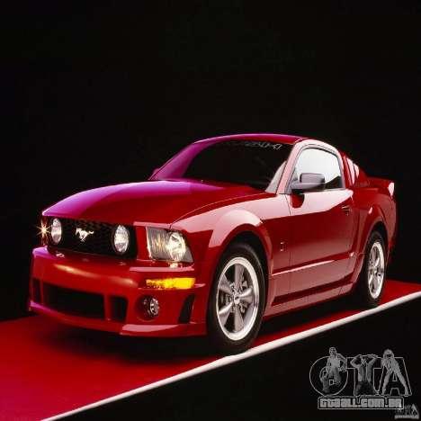 Telas de carregamento, no estilo do Ford Mustang para GTA San Andreas décimo tela