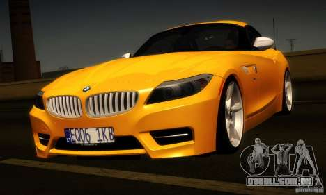 BMW Z4 Stock 2010 para GTA San Andreas vista traseira
