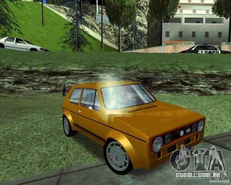 Volkswagen Golf MK 1 GTI para GTA San Andreas vista direita