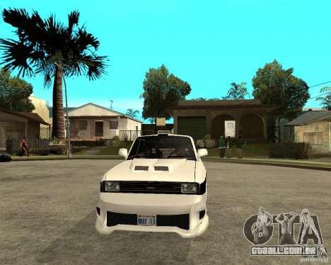 AZLK 2140 no subsolo para GTA San Andreas vista traseira